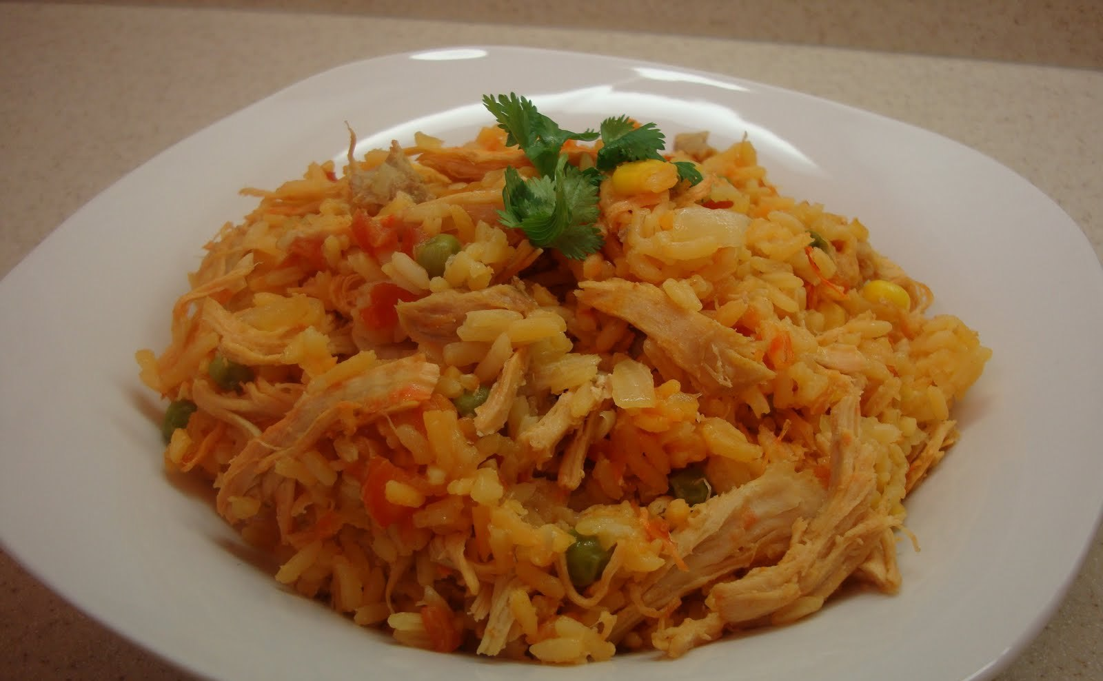 Arroz con pollo sercano tv - Arroz en blanco con pollo ...